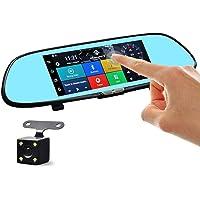 Dash Cam, 1296P ultra HD anteriore e posteriore auto Mini in camera 170 ¡ã obiettivo grandangolare 6 G 7,6 cm schermo LCD con G-Sensor, registrazione in loop, visione notturna, HDR e comando controllo