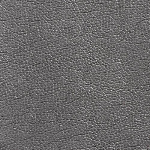 Grey Gray Plain Automotive Animal Hide Texture Vinyl Upholstery Fabric by the yard