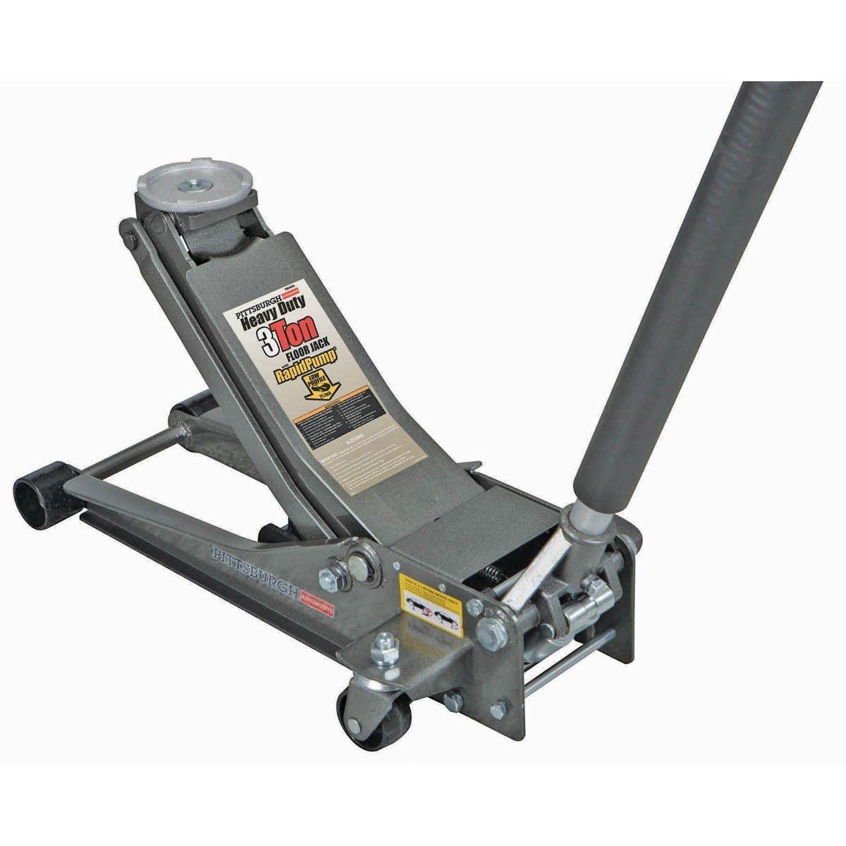Eight24hours 3 Ton Heavy Duty Steel Ultra LOW PROFILE Floor Jack Rapid Pump Show Car Lowrider - L5