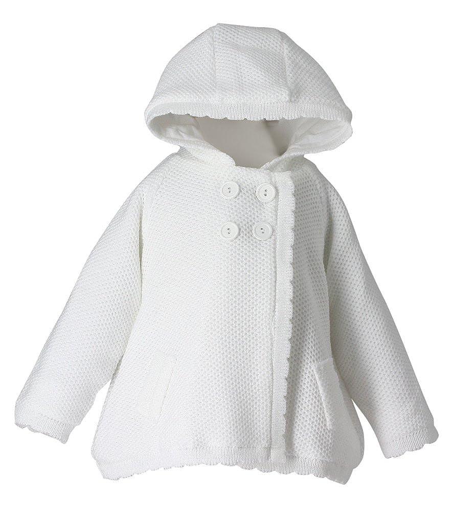 Jacke Wei/ße M/ädchen Baby f/ür Taufe Hochzeit Baby Strickjacke/ /Produkt Gespeichert und verschickt Schnell seit Frankreich