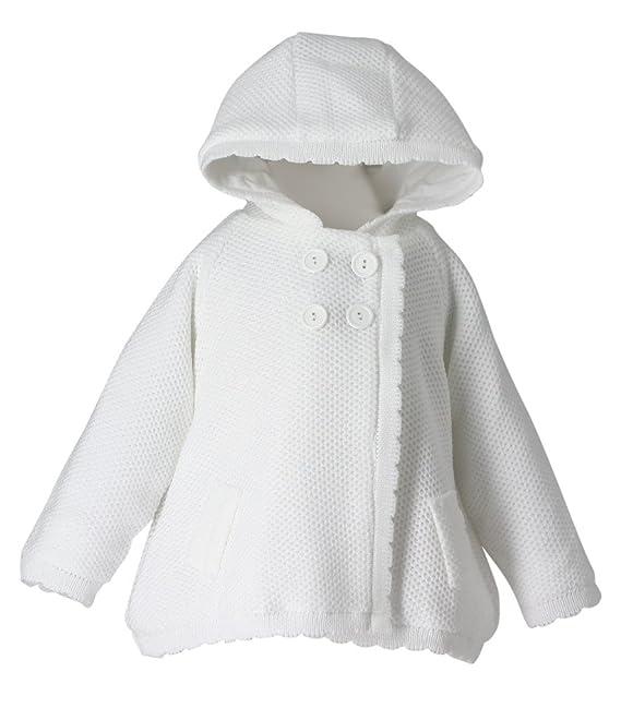59c691ef6 Boutique-Magique Chaqueta blanca niña bebé para bautizo boda Cardigan bebé  - Producto stocké y expédié cortaúñas desde la France  Amazon.es  Ropa y ...