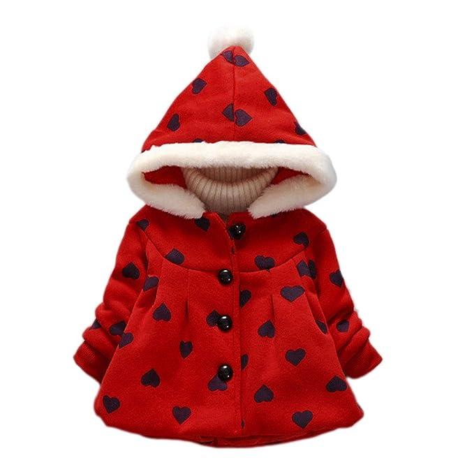 JUTOO Chaqueta de Abrigo de Invierno para bebés bebés niñas Ropa Abrigada Gruesa: Amazon.es: Ropa y accesorios