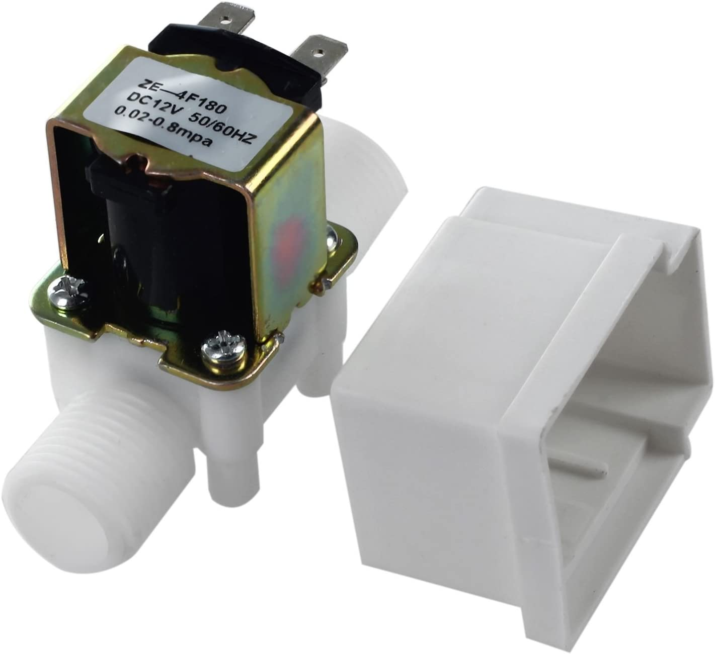 SNOWINSPRING 12V 1//2inch New Electric Solenoid Valve Magnetic Water Air N//C Normally Closed