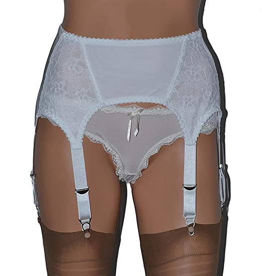 3b90058f7 6 Strap Suspender Belt in Mesh and Lace