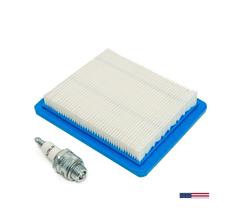 Trоy-Bіlt Вrіggs Strаttоn Tune Up Kit Air Filter 491588 Spark Plug Rj19Lm J19Lm