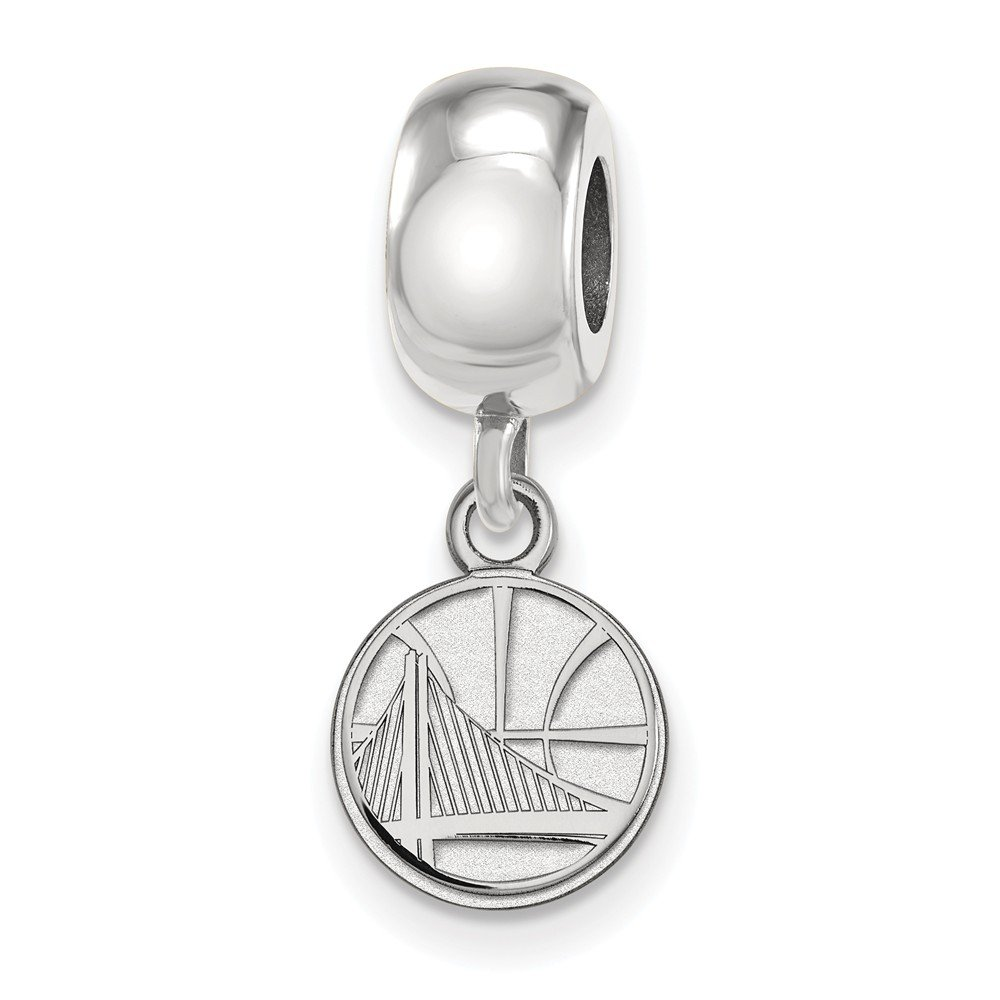 Sterling Silver NBA LogoArt Golden State Warriors XS Dangle Bead Charm