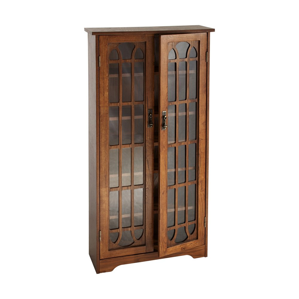 Amazon Window Pane Media Cabinet Oak Kitchen Dining