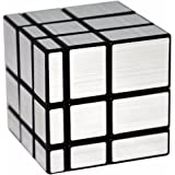 3x3 Mirror Puzzle Cube, LSMY Special-shaped Speed Cubes Toy, Silver