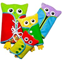 YeahiBaby Owl Dressing Toy Creative Plush Animal Toy Early Educational Toy for Newborn Baby Infant 4pcs