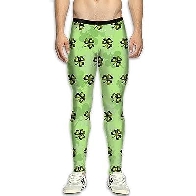 Fri St.Patrick's Day Compression Pants/Running Tights Leggings Men Zipper