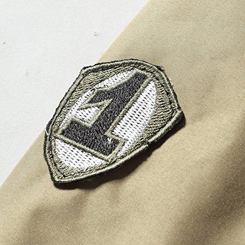 JIINN Winter Jacket Autumn Style Flight New Uk2113h Bomber Khaki Thick Plus Men's MA1 Coat Velvet Police HqHrBxpwn
