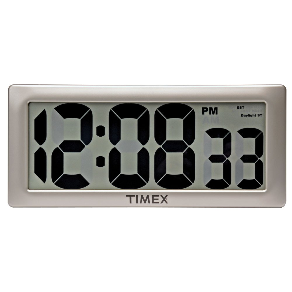 Timex 75071TA2 13.5'' Large Digital Clock with 4'' Digits and Intelli-Time Technology by Timex