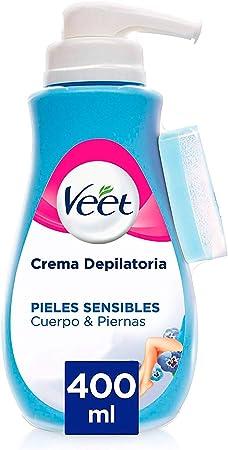 Veet Crema depilatoria para brazos y antebrazos, pecho y axilas, ingles, piernas y espalda,La Crema