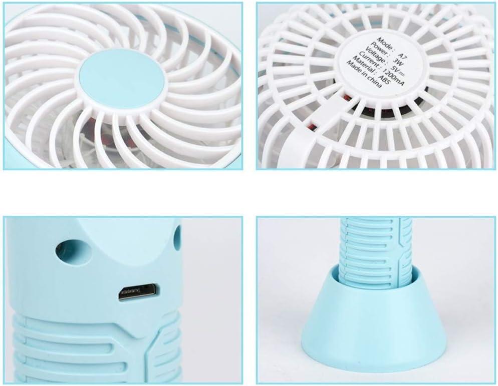 USB Small Fan Personal Quiet Tennis Racket USB Mini Portable Handheld Desktop Fan for Home Office Convenient Mini Color : Blue, Size : One Size