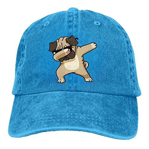OHMYCOLOR Dabbing Sunglasses Pug Dog Pet Denim Adjustable Baseball Caps For Mens Womens Political Hip Hop Trucker Hats - Army Indian Sunglasses