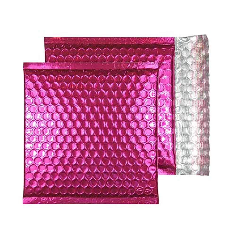 Purely Packaging confezione da 100 pezzi Buste imbottite con chiusura adesiva formato CD 165 x 165 mm colore: rosa metallizzato