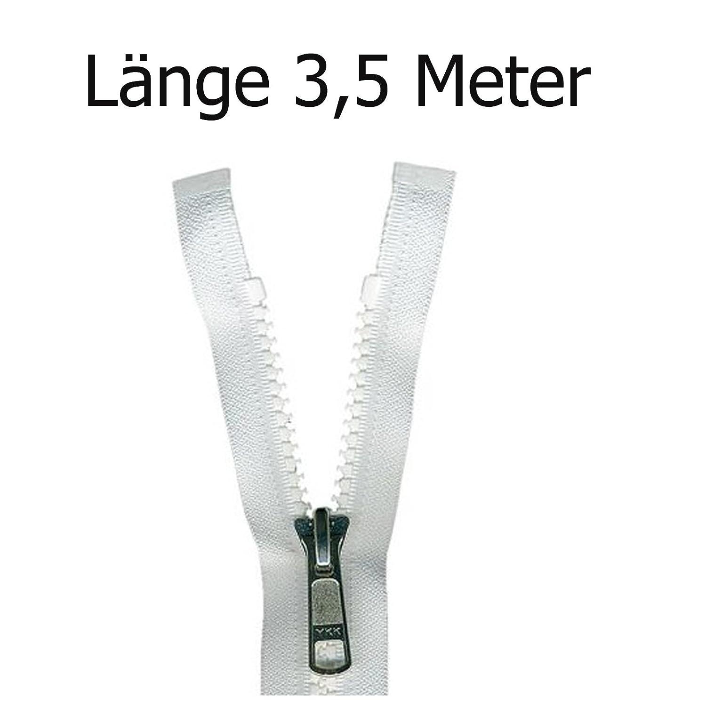 Persenning wei/ß 3,5 m Rei/ßverschluss aus Kunststoff f/ür Bootsplanen