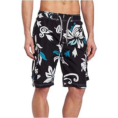 Wymw Tallas Grandes para Hombre Pantalones De Baño ...