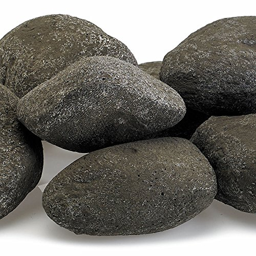 Midwest Hearth Fire Rocks | Decorative Stones for Outdoor Gas Fire Features or Indoor Gas Log Fireplaces | 15-Stone Kit (Stormy Gray)