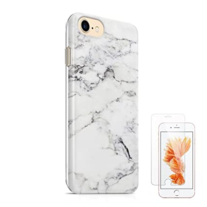 IPhone 7 Case 8 47quotuCOLOR White Marble Ultra Dual Layer