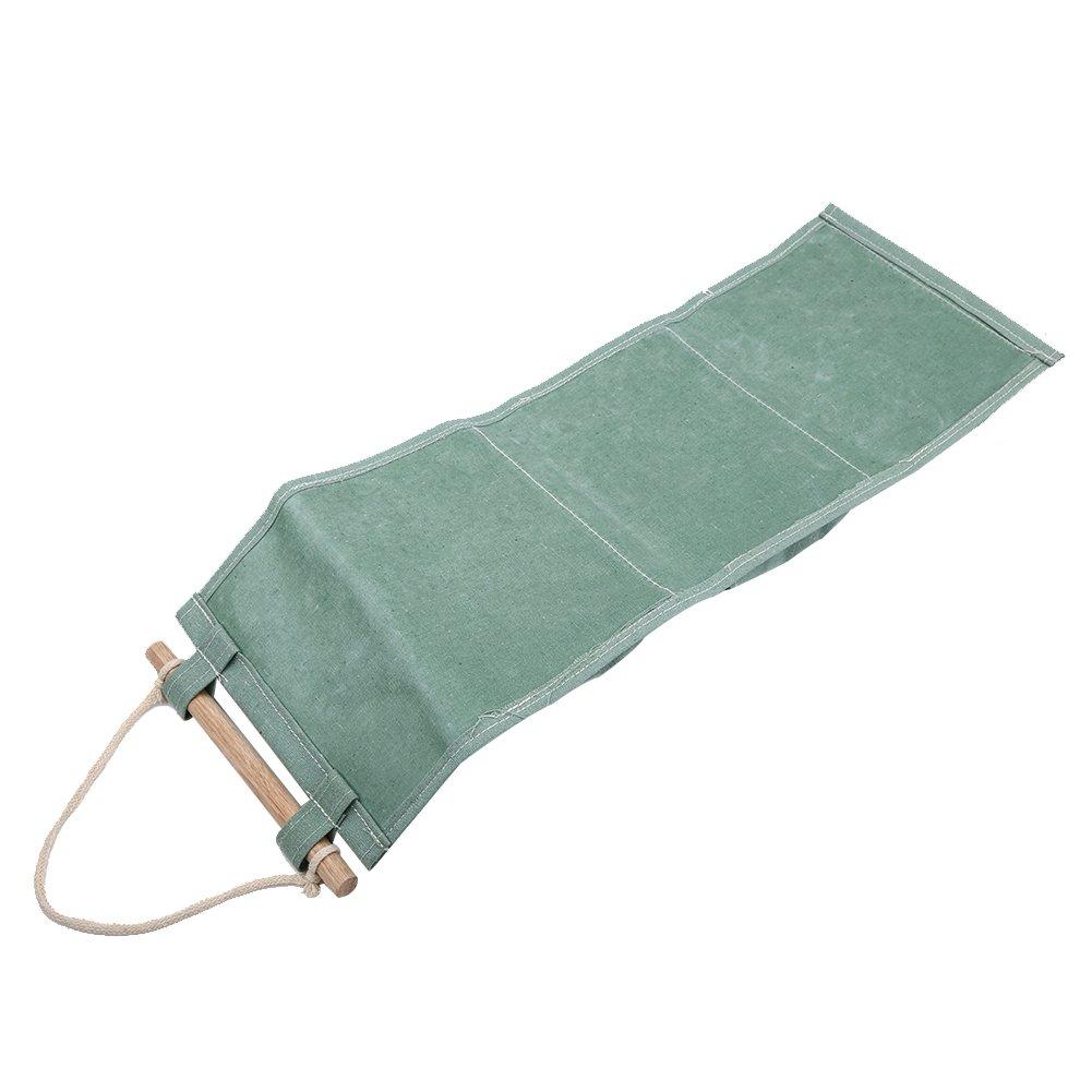 bolsillos 3 bolsillos para colgar bolsa de almacenamiento de algod/ón de lino para colgar en la pared dormitorio cuarto de ba/ño puerta organizador bolsa de almacenamiento para juguetes
