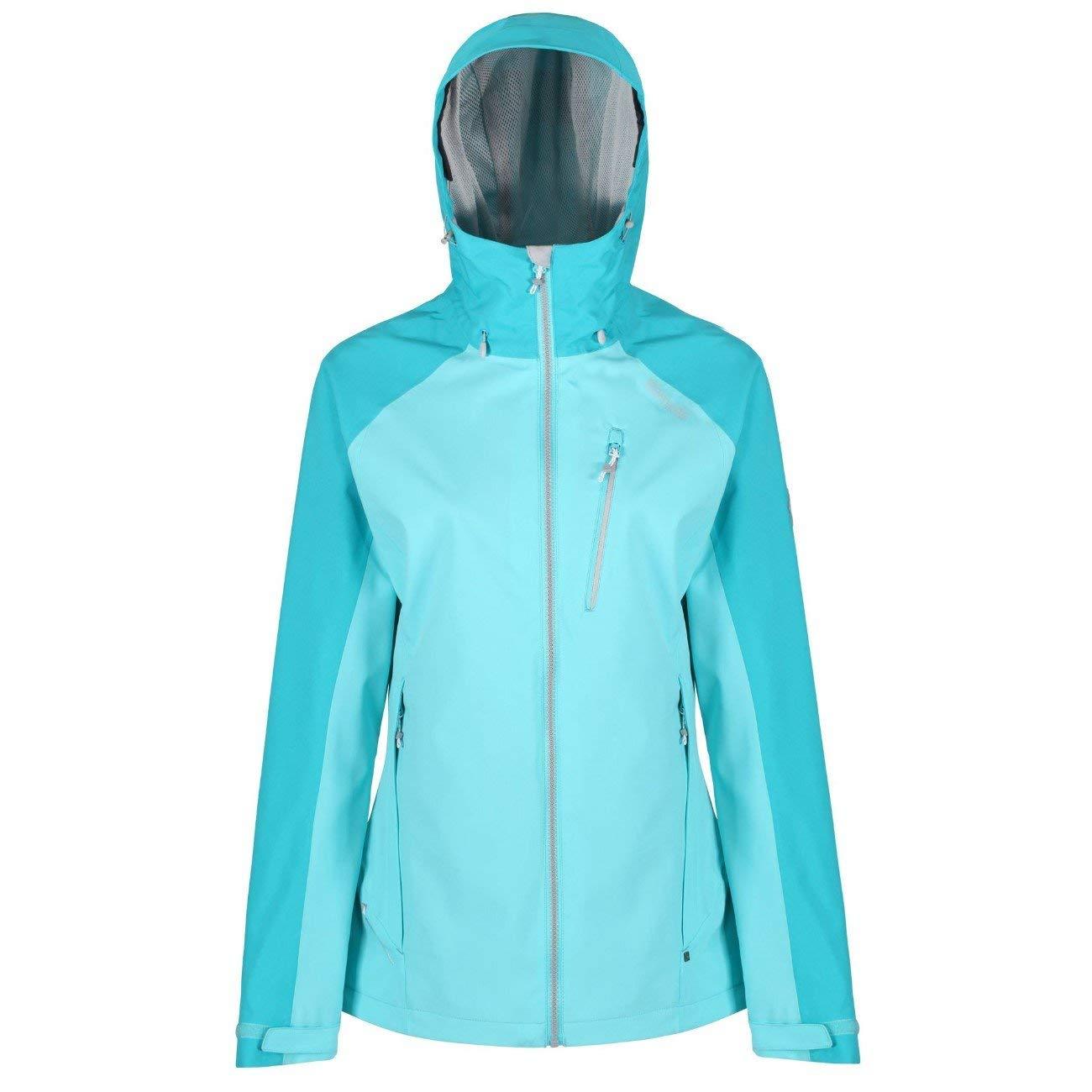 Horizon Aqua FR   L (Taille Fabricant   16) Regatta femmes Ladies Birchdale imperméable Durable encapuchonné veste Coat