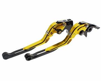 fxcnc Racing motocicleta plegable ajustable, CNC plegable ajuste de par de freno palanca de embrague