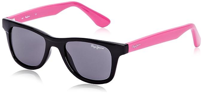 Pepe Jeans - Gafas de sol Wayfarer Connor, Black/pink ...