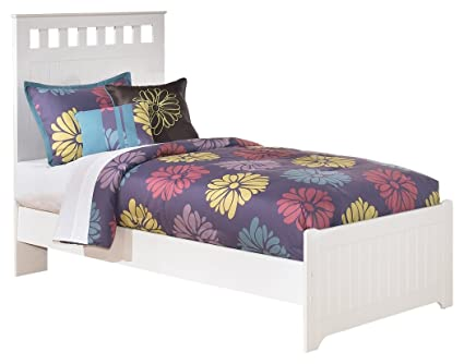 Ashley Furniture Signature Design   Lulu Kids Bedset With Headboard U0026  Footboard   Childrens Twin Size