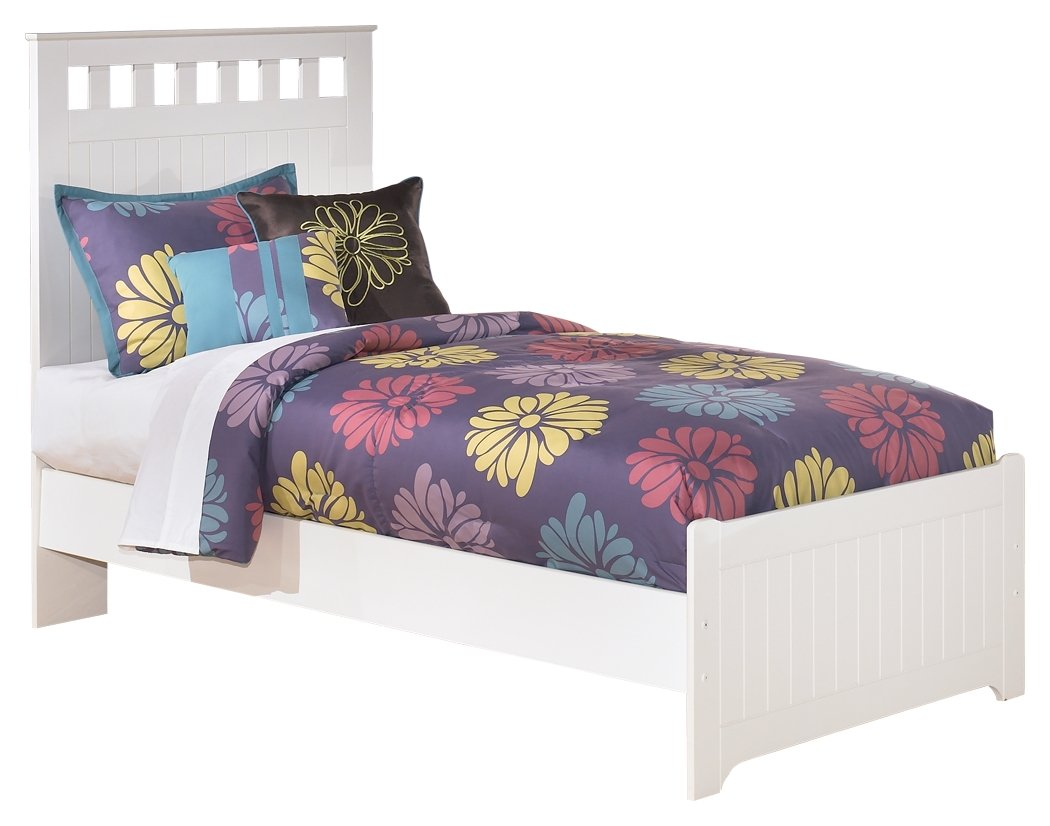 Ashley Furniture Signature Design - Lulu Kids Bedset with Headboard & Footboard - Childrens Twin Size Panel Bed - White