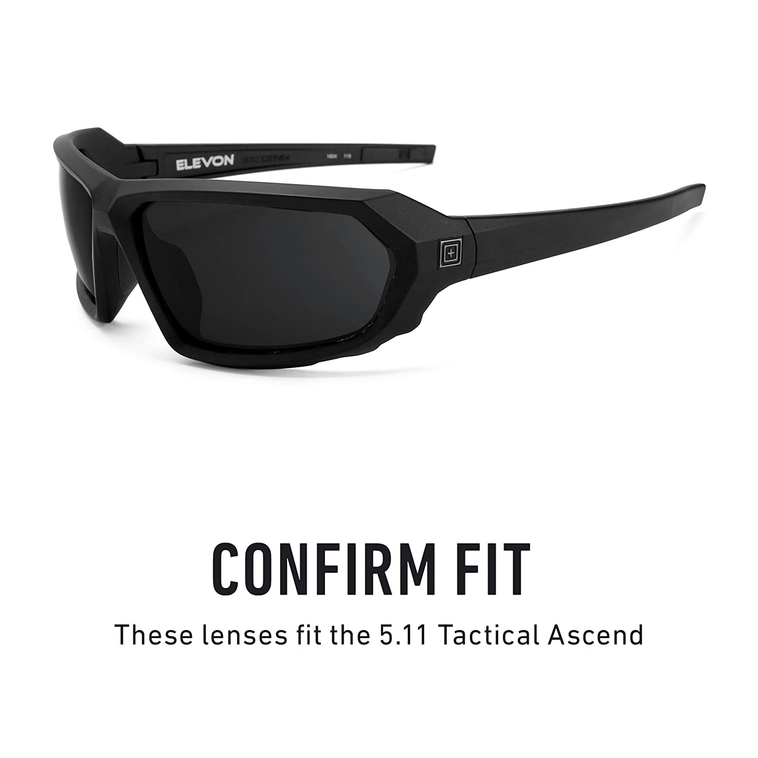 9d5c3ff1034 Amazon.com  Revant Polarized Replacement Lenses for 5.11 Tactical Elevon  Elite Black Chrome MirrorShield  Sports   Outdoors