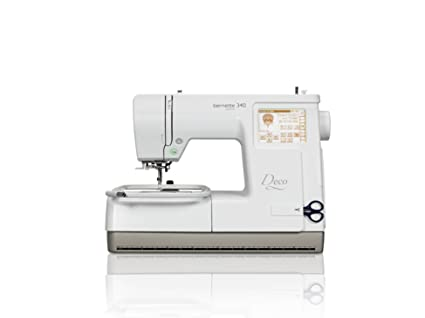 bernette deco 340 computerised 8 x 6 embroidery machine with 100