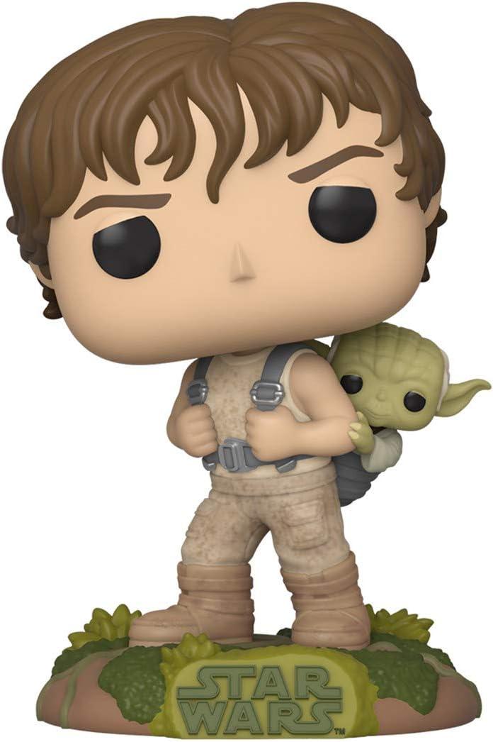 Funko - Pop! Star Wars - Training Luke with Yoda Figura Coleccionable, Multicolor (46768)