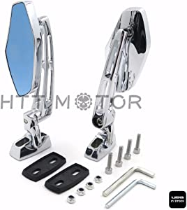 SMT-Chrome Adjustable Base Mirrors Rearview Compatible With Suzuki Hayabusa GSX1300R 99-12 [B00RUE2PCK]