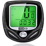 SOON GO Bike Speedometer, Bicycle Speedometer Wireless Cycle Bike Computer Waterproof Bike Odometer with LCD Display…