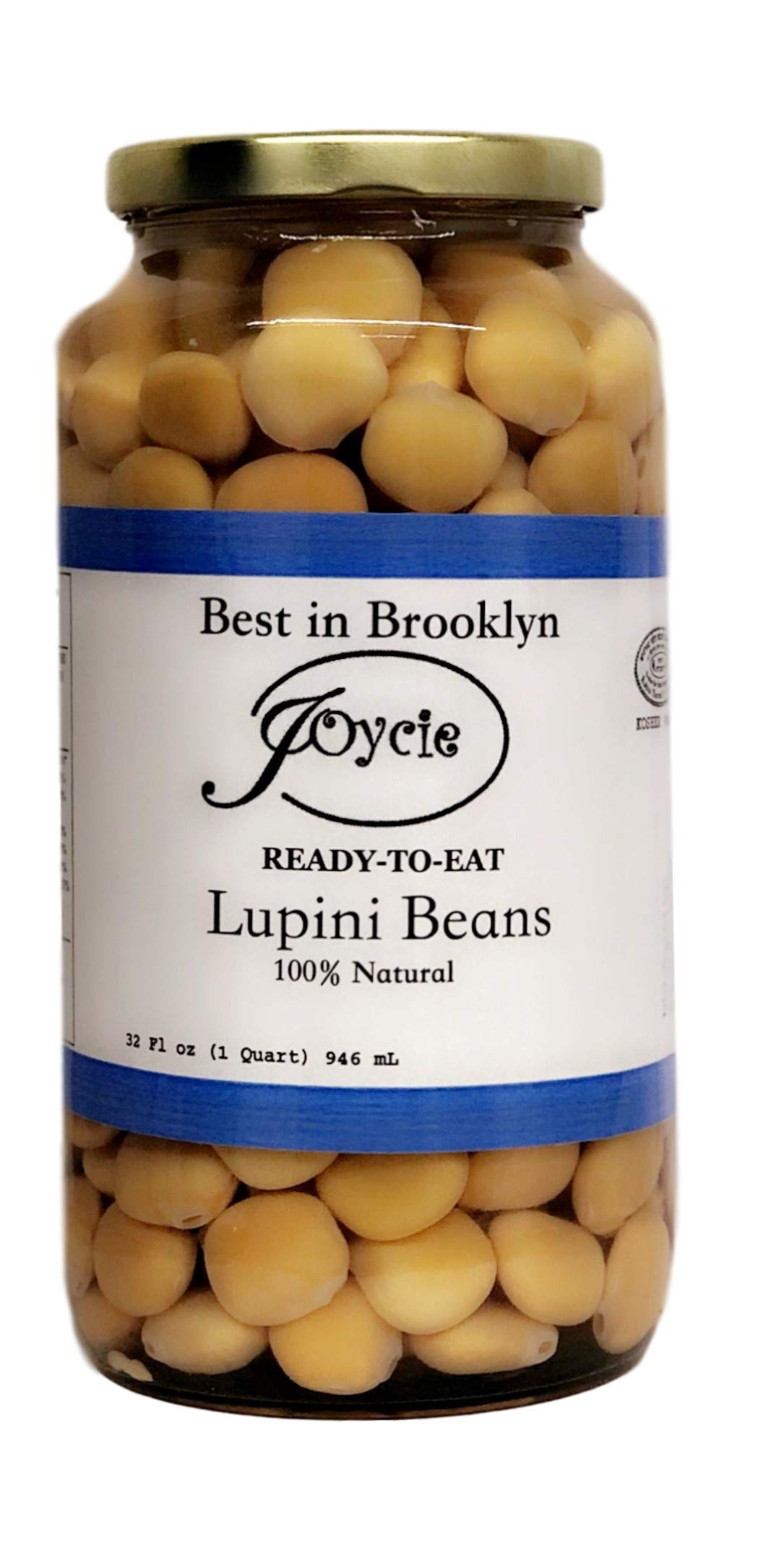 Joycie Ready To Eat Lupini Beans 32 Oz Pack of 3 by Joycie