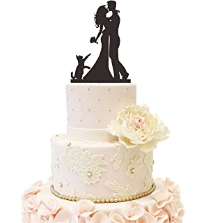 Amazon wedding cake topper with cat wedding cake topper with wedding anniverary cake topper couple bride groom family with a cat black junglespirit Image collections
