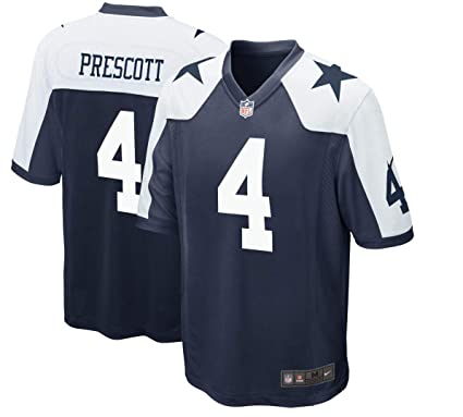 27a26019a42 Image Unavailable. Image not available for. Color: Dallas Cowboys Dak  Prescott Nike Game Replica Throwback Jersey