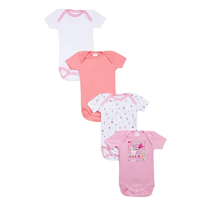 Absorba Baby-M/ädchen Body 4er Pack