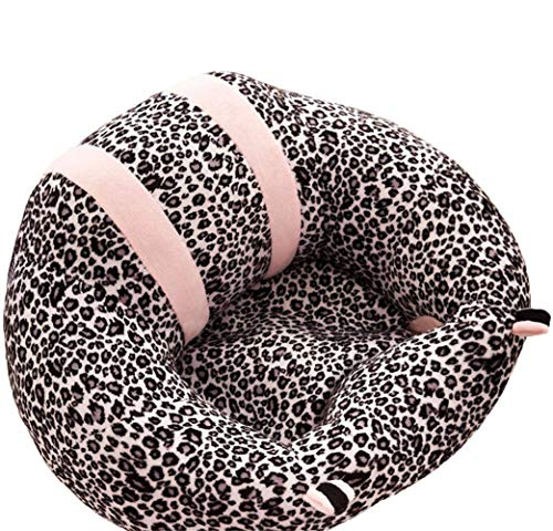 Baby Plush Sofa Seat Toddler Nursery Support Seat Plush Pillow Toys Bean Bag Chair Cushion (Leopard)