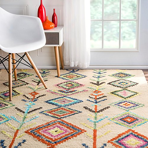 bohemian lights area fuchsia pin rugs power loom persian rug eloise and blue light safavieh