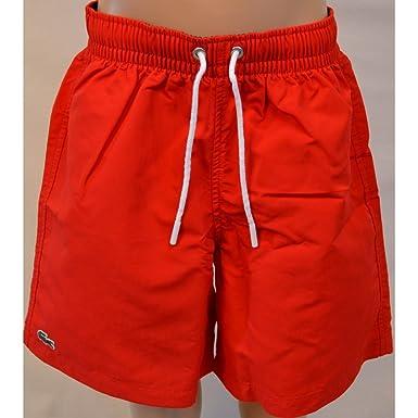 15956547c4 Lacoste Kids Red Swim Shorts 12 Years: Amazon.co.uk: Clothing