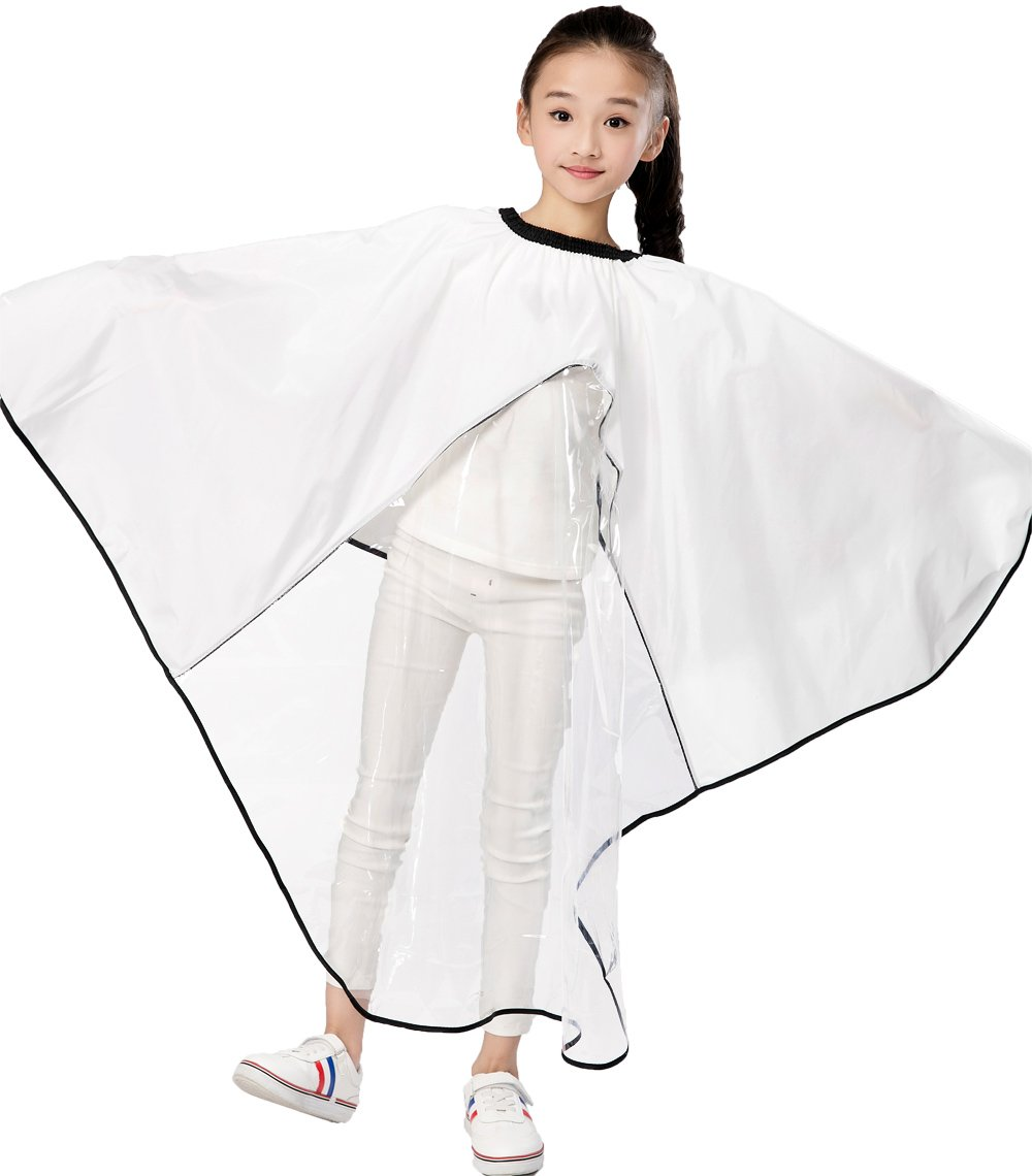 Kids Haircut Salon Cape, Hair Cutting Cape For Kid, Child Shampoo Waterproof Capes with Clear Viewing Window Perfehair