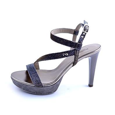 Nero Giardini 6070 Sandalen Damen aus glitter Far Kupfer Absatz cm 10 NUM37