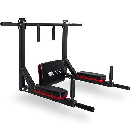 amazon com merax multi grip wall mounted pull up bar chin up bar