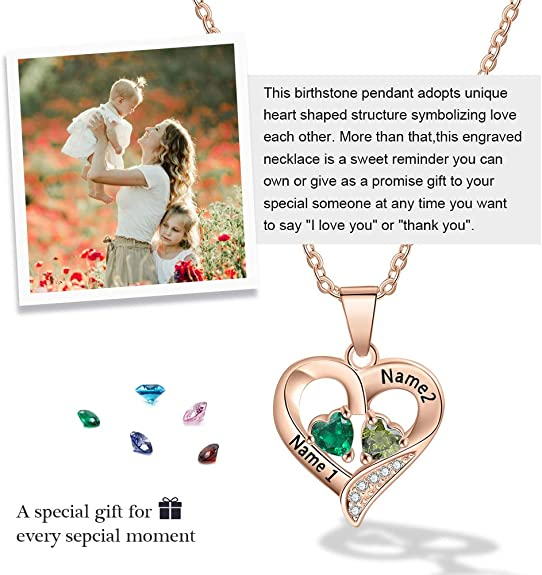 romantic birthday You can make your choice number of Hearts you want STERLING SILVER Christmas gift Customized Initial Hearts Necklace