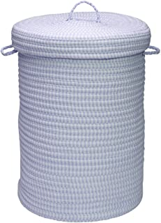 """product image for Colonial Mills Ticking Stripe Solids Hamper, 18"""" x 18"""" x 30"""", Blue"""