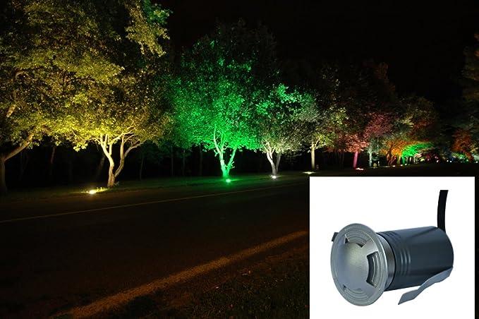KuLio 2W LED jardín enterrado luz LED al aire libre subterráneo empotrado Inground lawn lámpara