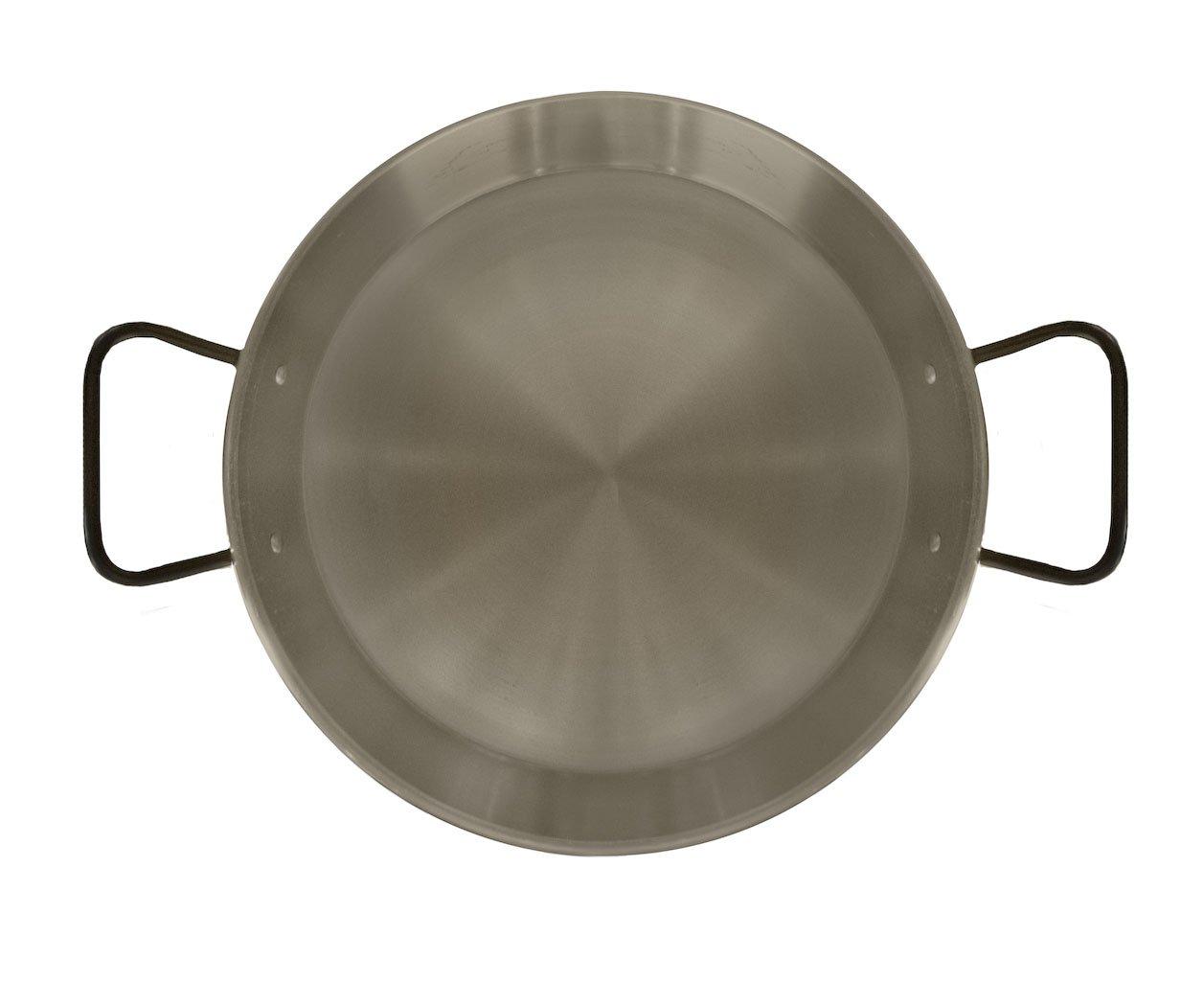 Garcima La Ideal Polished Steel Professional Paella Pan 38cm for Ceramic, Induction & AGA hobs 85138
