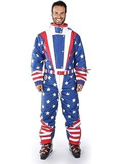 Tipsy Elves Men s American Flag USA Ski Suit - Stars and Stripes Patriotic Retro  Ski Suit 5f1127cef
